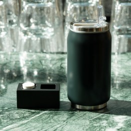 Cann type bottle matt black