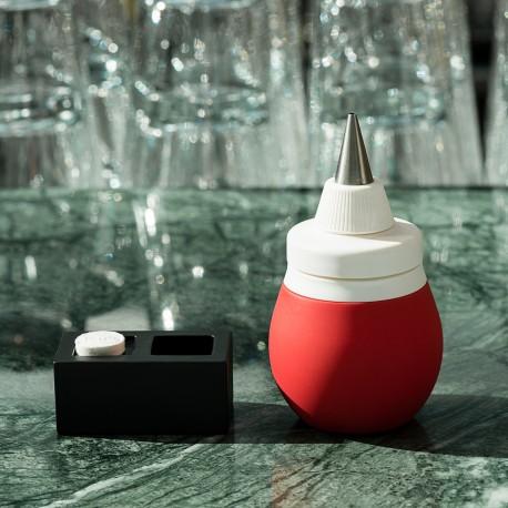 Pear type bottle red