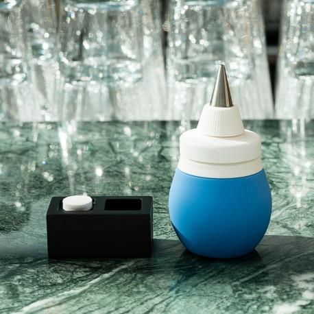 Pear type bottle blue